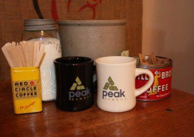 Mugs ready for coffee